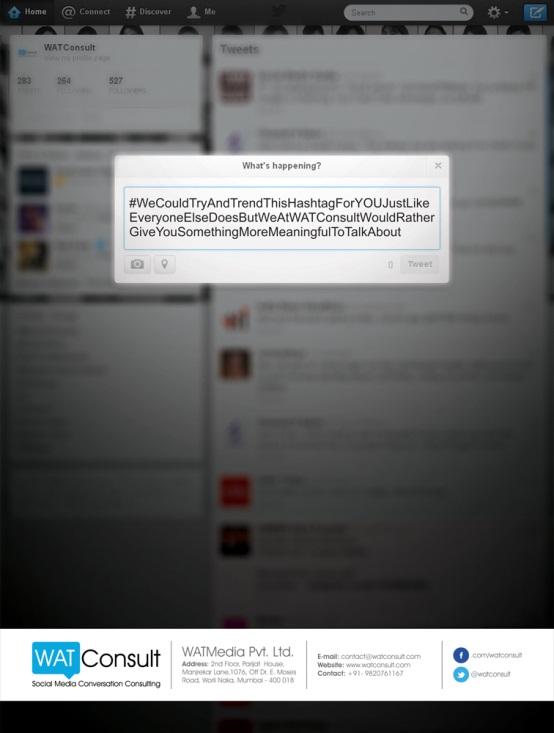 Get my hashtag trending watconsult tweet