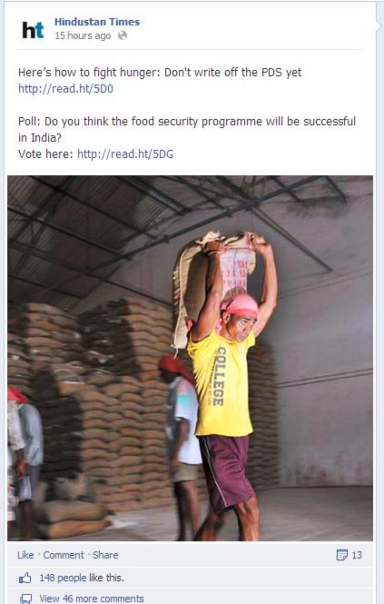 Hindustan Times Facebook Post