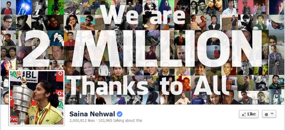 Saina Nehwal Facebook