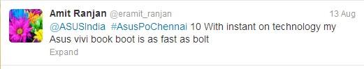 asus india twitter contest tweet 1