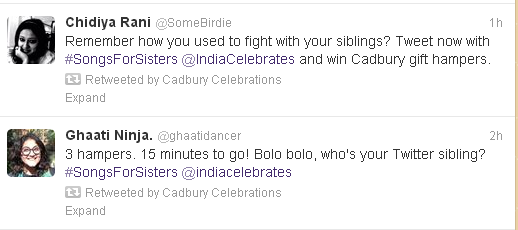 cadbury celebrations songs for sisters tweets1