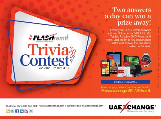 uaexhange flashermit trivia contest
