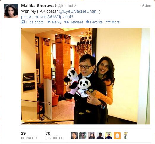 mallika sherawat on twitter