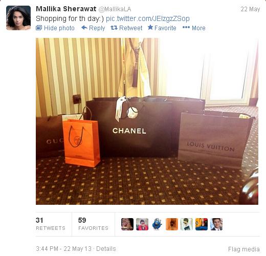 mallika sherawat tweets