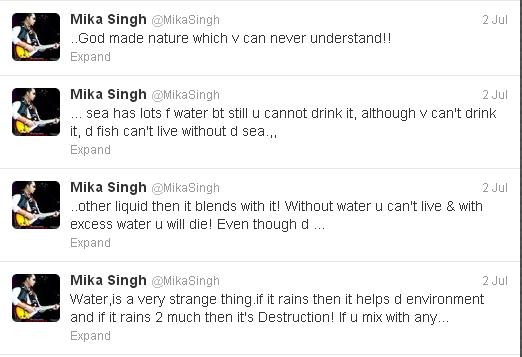 mika singh tweets