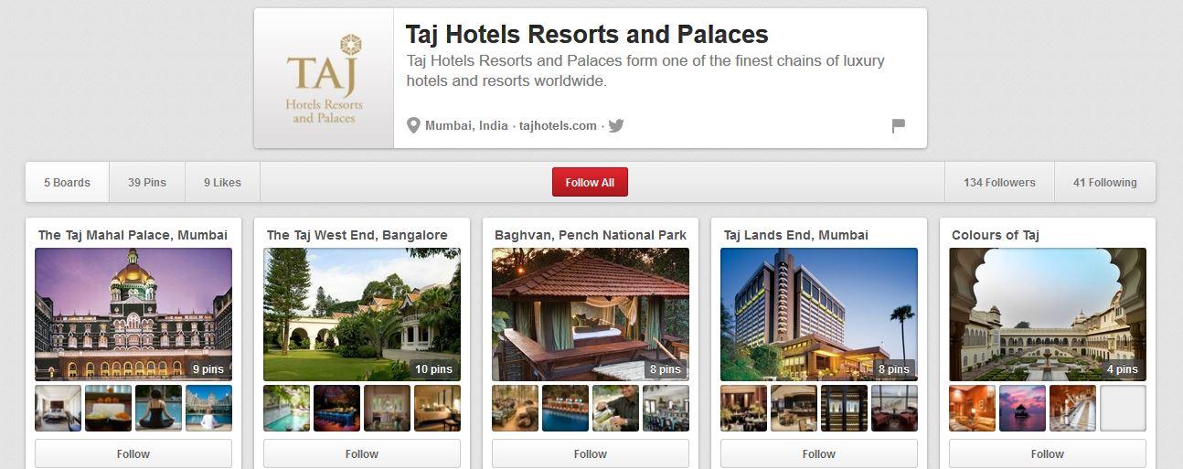 Taj Hotels Pinterest