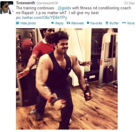 sreeshanth tweet