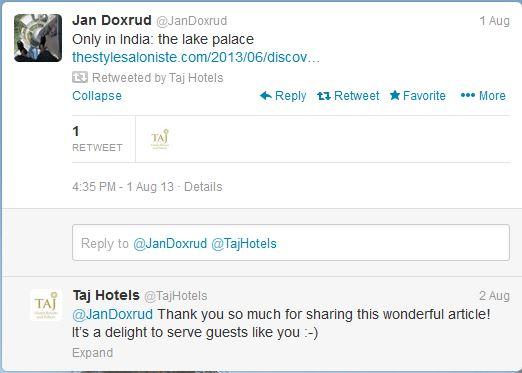 taj hotels tweet