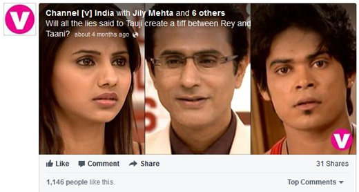 Facebook post by channel v