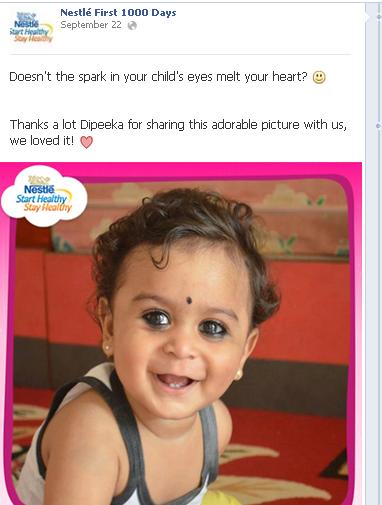 Nestle Facebook Post