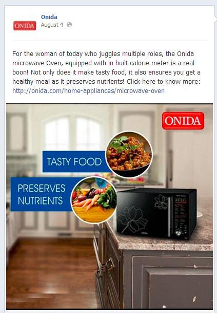 Onida Facebook Promotion