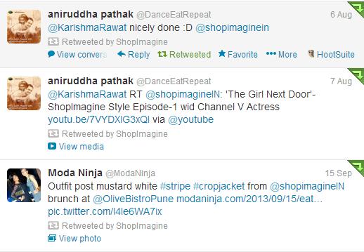 ShopImagine.in tweets