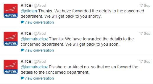 Telecom Industry Aircel Tweets