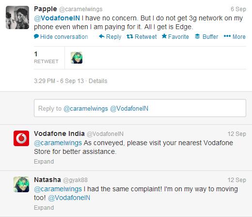 Telecom Industry Vodafone Tweet