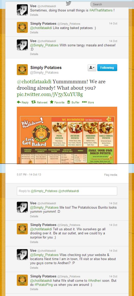 Twitter - Simply_Potatoes- @chotifataakdi Yummmmmm! We ...