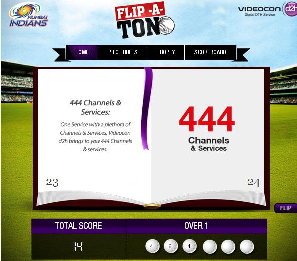 Videocon d2h Flip-A-Ton Facebook app