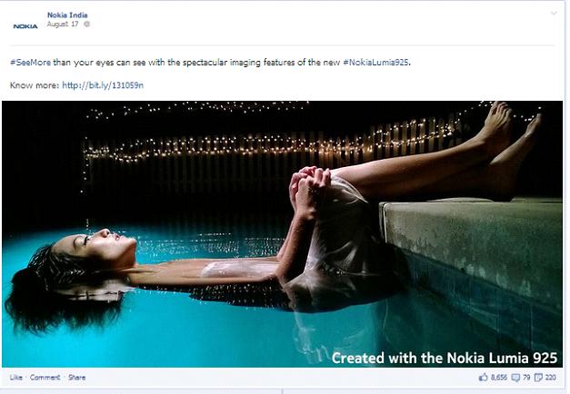 Nokia India post on facebook