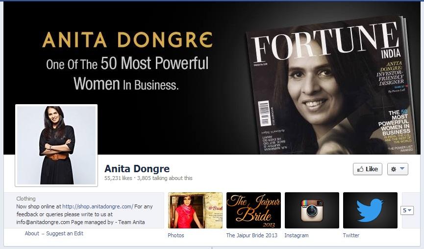 Anita Dongre Facebook