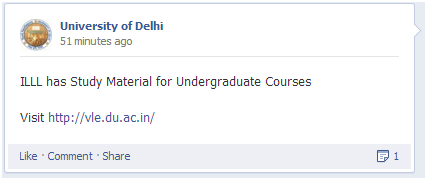 DU sharing study material on FB