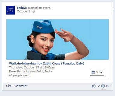 Indigo facebook Post