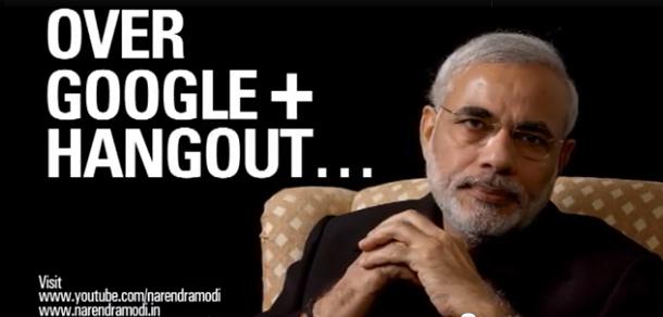 Narendra Modi Live Google Plus Hangout
