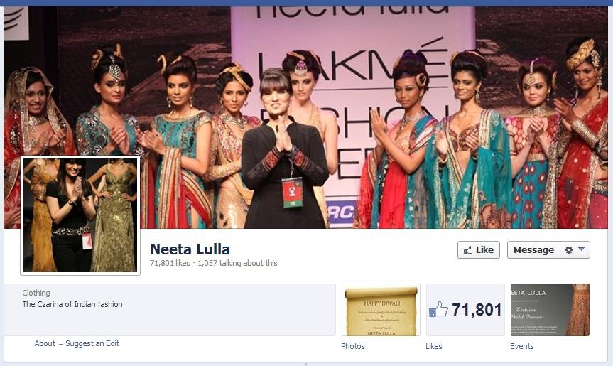 Neeta Lulla Facebook