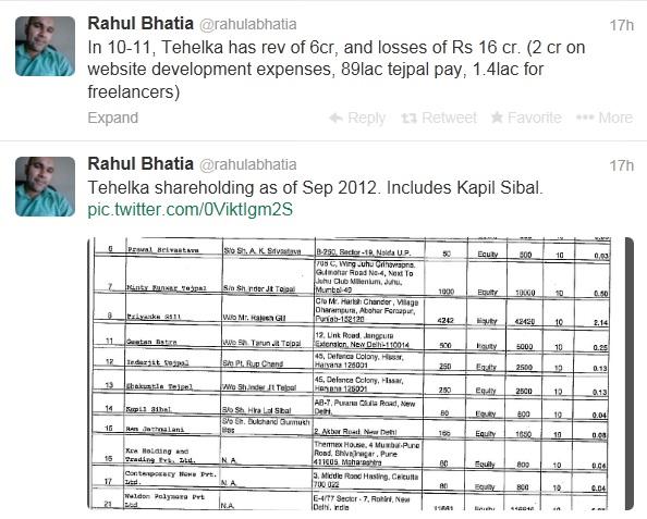 Rahul Bhatia tweet