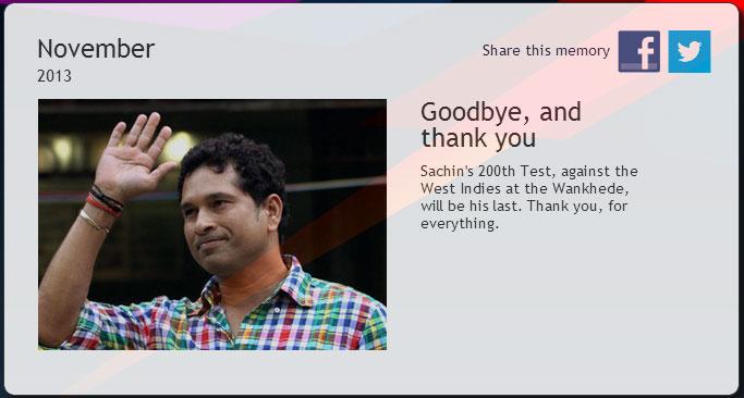 Sachin tendulkar goodbye
