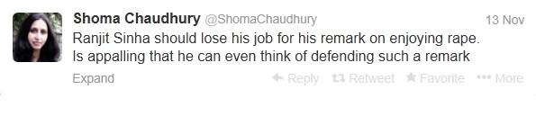 Shoma chaudhury tweet
