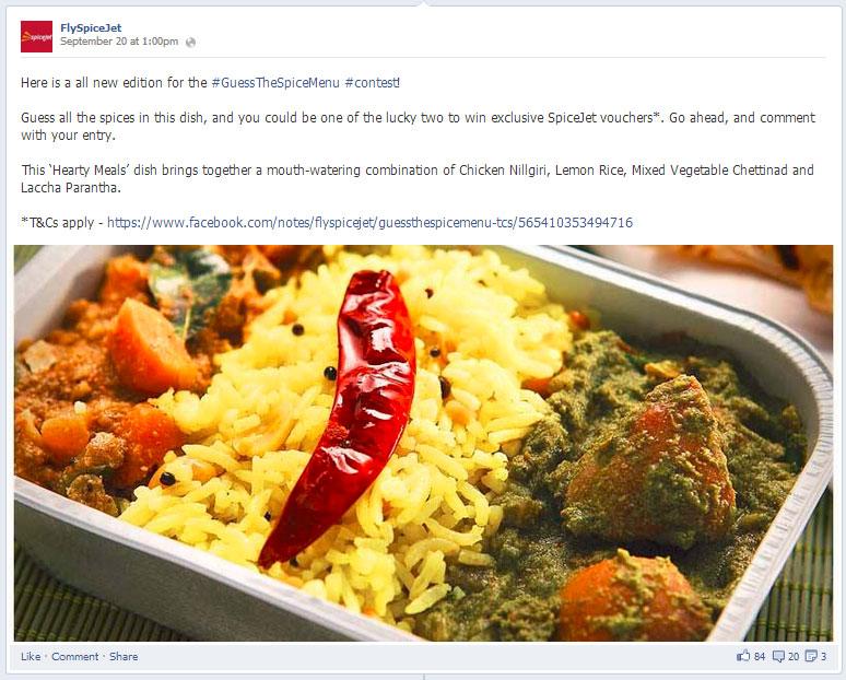Spice Jet Facebook post