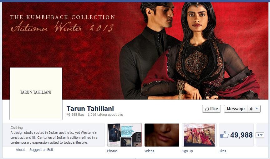 Tarun Tahilini Facebook