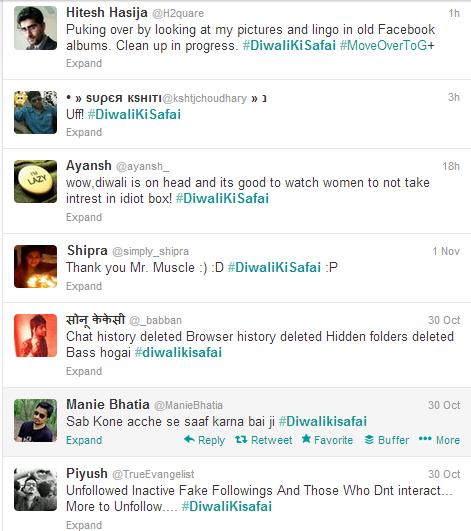 Twitter - Search - #DiwaliKiSafai