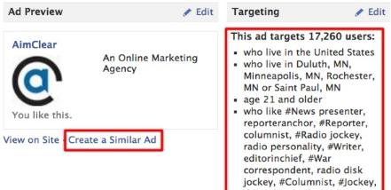 Targeting Options Facebook