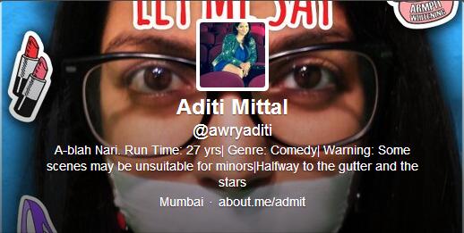 Aditi Mittal  on Twitter