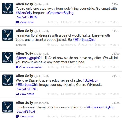 Allen Solly Tweets
