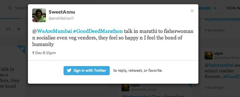 #GoodDeedMarathon Tweets 1