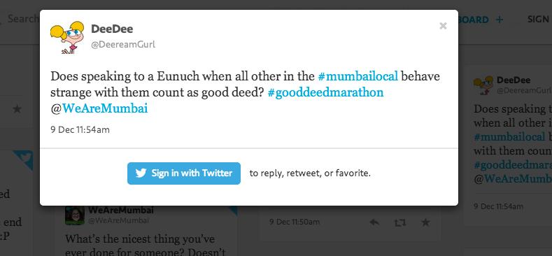 #GoodDeedMarathon Tweets