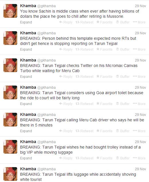 Khambha Twitter profile