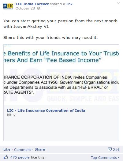 Lic Facebook Post