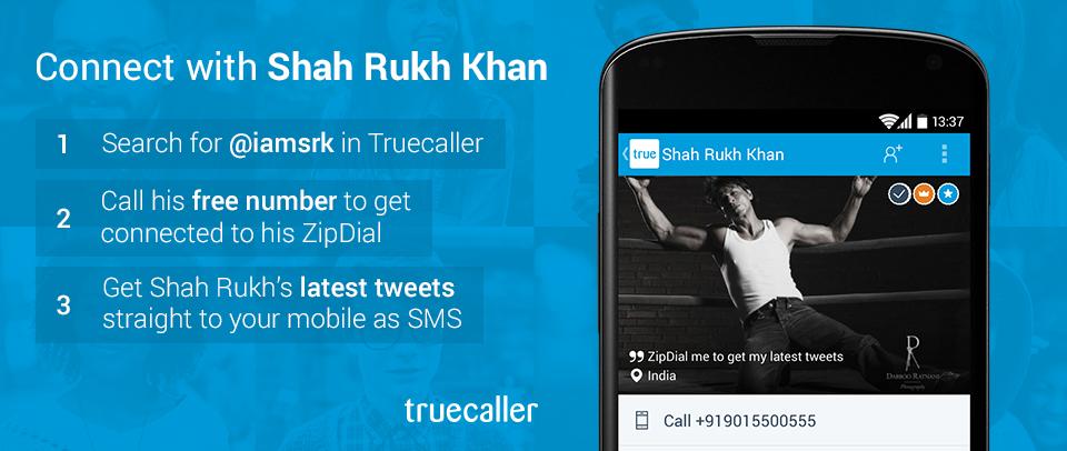Shahrukh khan twitter truecaller