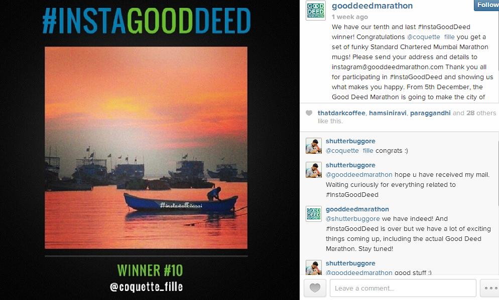 Instagram #Instagooddeed