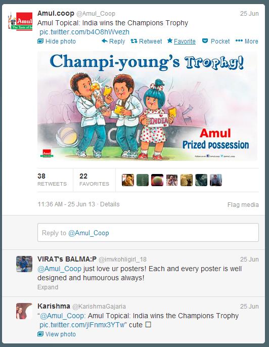 Amul Twitter conversation
