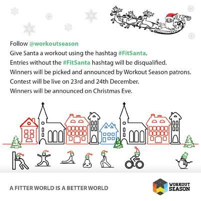 fitsanta workout season social media campaign