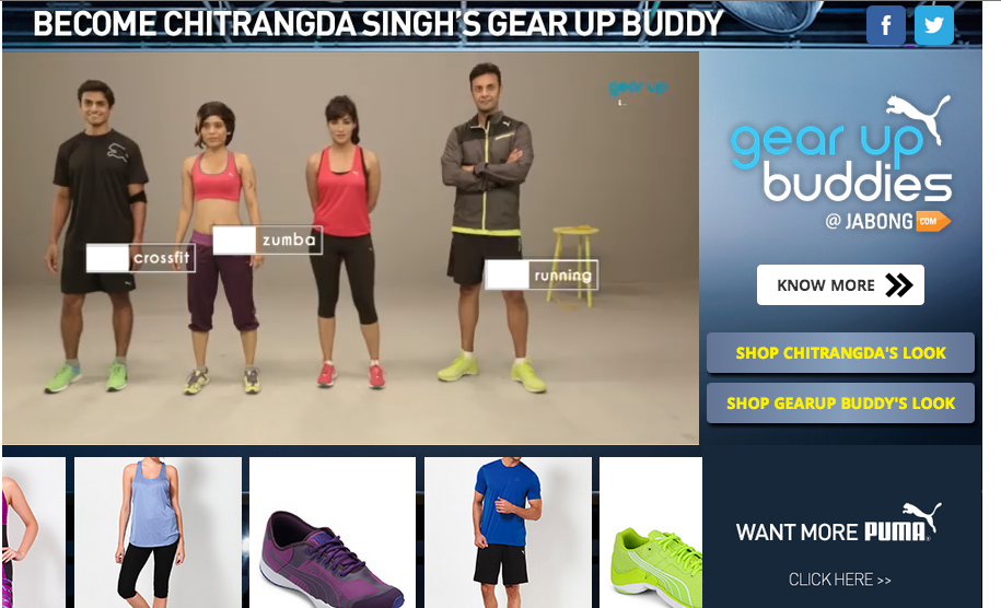 jabong puma gear up buddies social media campaign
