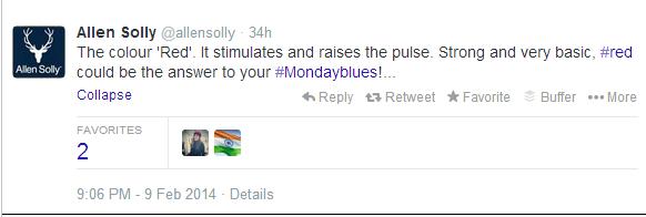 Allen solly twitter tweet
