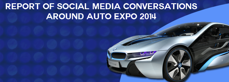 social media conversations around AutoExpo 2014