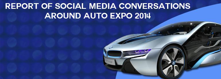 social media conversations around AutoExpo 2014