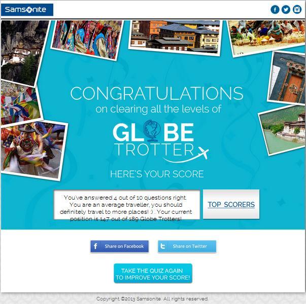 Globe Trotter facebook campaign