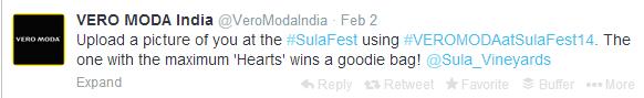 Vero Moda India twitter Tweet
