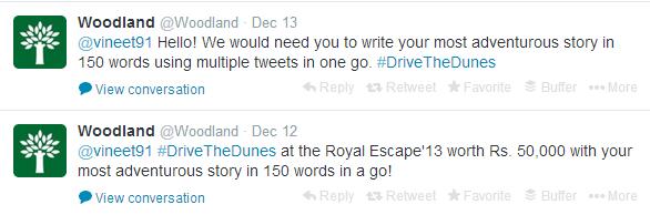 Woodland Twitter Tweet